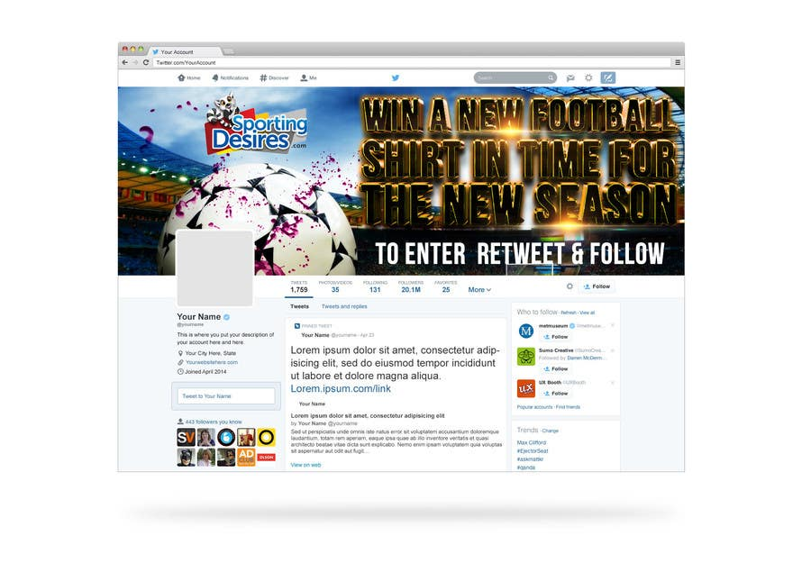 Penyertaan Peraduan #21 untuk Design a Banner for facebook & twitter promotion competition