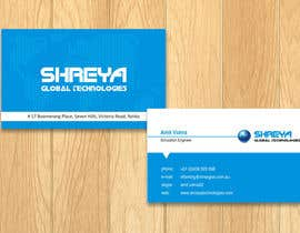 #36 untuk Design some Business Cards for Shreya Global Technologies oleh sami24x7