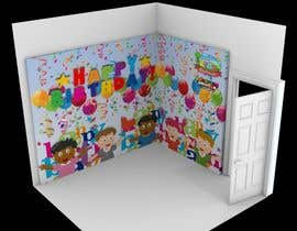 edwarnugraha tarafından Design 3D wall paper for kids party room için no 1
