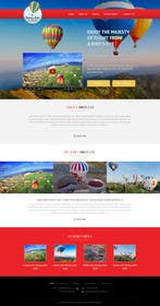 #7 untuk Hot Air Balloon ride business Web Site Mockup oleh kreativeminds