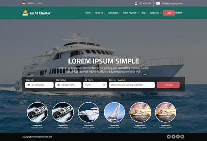 #21 untuk Design a UX/UI Mockup for Yacht Charter Comparison Site oleh ankisethiya