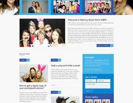 #19 untuk Design a Website Mockup for Memory Booth Company oleh vivekdaneapen