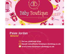 sarahradwan tarafından Design some Business Cards for Baby Boutique için no 51