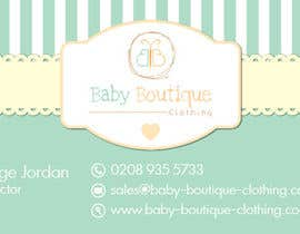 #21 untuk Design some Business Cards for Baby Boutique oleh pearl1803