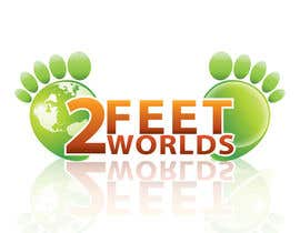 #112 para Design a Logo for 2 Feet 2 Worlds por Xatex92