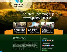 #5 para Design a Website Mockup for An Outdoors & Minibus Hire Company por grafixeu