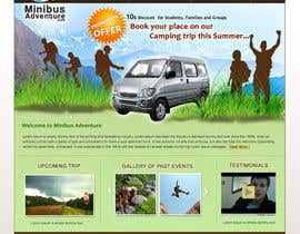 #9 para Design a Website Mockup for An Outdoors & Minibus Hire Company por Sipofart