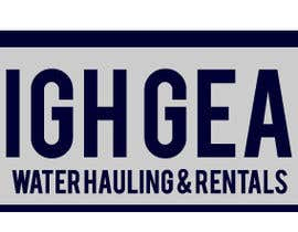 #54 for Redesign/revisualization of the current Logo for High Gear Water Hauling & Rentals af Nertrocity