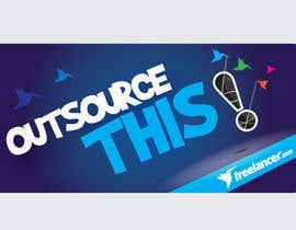 "#167 , Logo Design for Want a sticker designed for Freelancer.com ""Outsource this!"" 来自 pradeepkc"