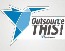 "#233 untuk Logo Design for Want a sticker designed for Freelancer.com ""Outsource this!"" oleh dyv"