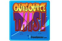"#359 for Logo Design for Want a sticker designed for Freelancer.com ""Outsource this!"" by pupster321"