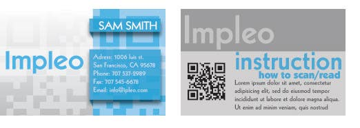 Contest Entry #                                        21                                      for                                         Business Card Design for Impleo