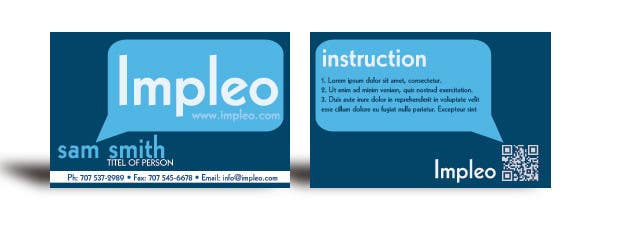 Contest Entry #                                        102                                      for                                         Business Card Design for Impleo