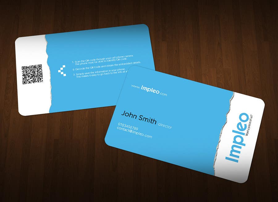 Proposition n°                                        126                                      du concours                                         Business Card Design for Impleo