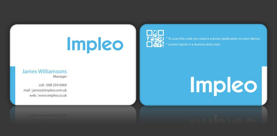 Contest Entry #                                        91                                      for                                         Business Card Design for Impleo