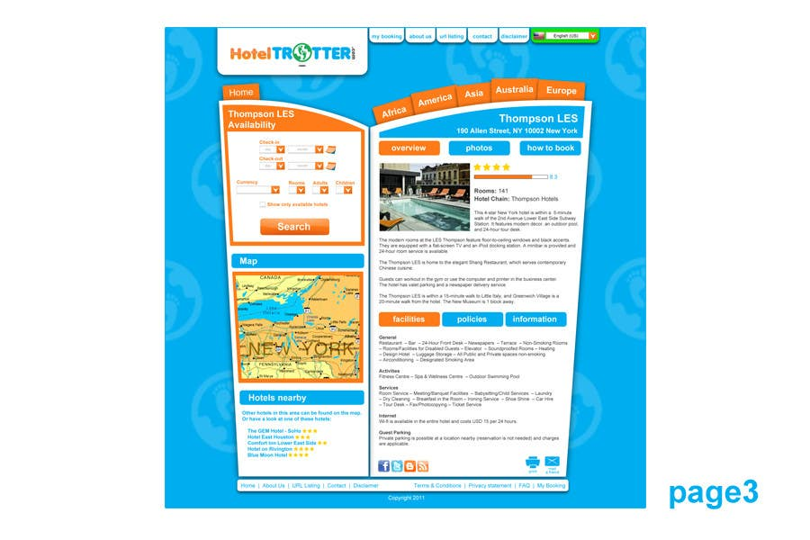 Contest Entry #56 for Website Design for Hoteltrotter