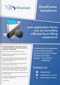 gmorya tarafından Design a Brochure for our new OmniForms product için no 10