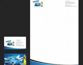 #26 cho Design a letterhead and business card for a car wash. bởi einsanimation