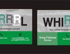 #7 untuk Design some Business Cards for WHIRRRL oleh Shrey0017