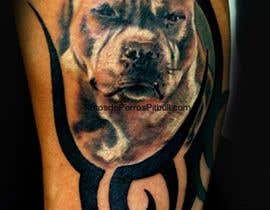 #7 cho pitbull tattoo with colors and tribes. bởi jjcaldwell