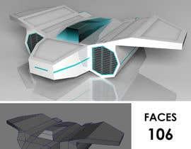 Nro 2 kilpailuun 3D Modelling for Tron-like racing spaceship käyttäjältä dhayaldhaya