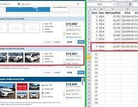 #5 for car price data entry af jmame