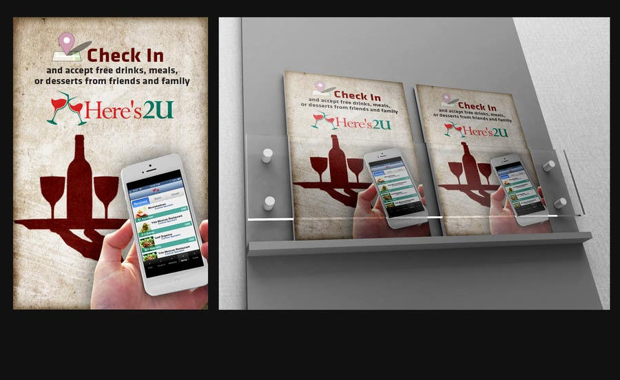 #12 for Design a In-store Restaurant Flyer for Mobile App. by Opacity