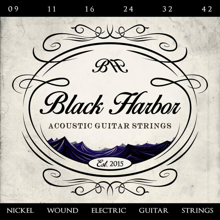 Konkurrenceindlæg #133 for Design a Logo for a Guitar Strings company called Black Harbor.