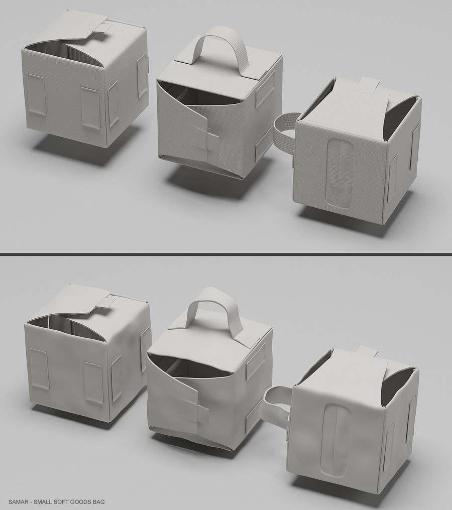 Contest Entry #3 for NASA Challenge: Develop 3D Models for Robonaut Simulation-Small Soft Goods Box