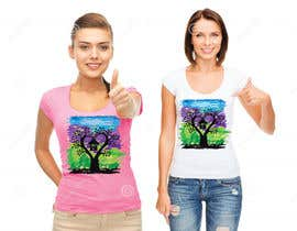 #53 cho Lovebird Design for White and Pink Women's T-Shirts bởi AWAIS0