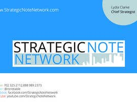 #3 for Design Contemporary, Modern Business Cards for Strategic Note Network af manojkaninwal