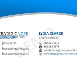 americanfizz tarafından Design Contemporary, Modern Business Cards for Strategic Note Network için no 2