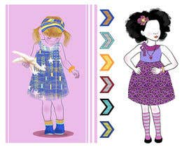 Aisbeth tarafından Illustrate fashion & lifestyle for a Kids eclectic clothing line collection  - Stage1 için no 22