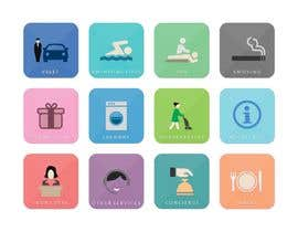 #18 for Hotel App Icons by whitishblack