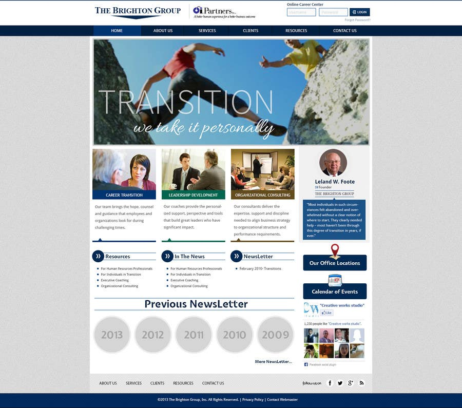 Proposition n°82 du concours Website Redesign