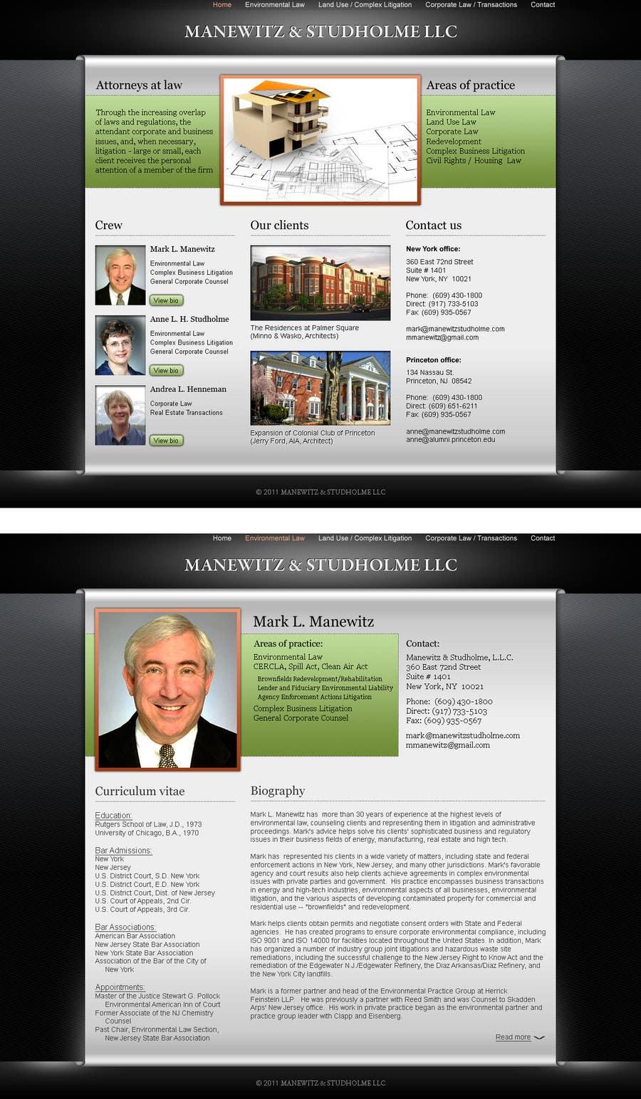 #135 for Website Design for Manewitz & Studholme LLC by Kashins