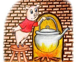 "#4 untuk Illustration for one page from the famous story ""Three little pigs"" oleh Chalice777"