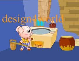 "#10 untuk Illustration for one page from the famous story ""Three little pigs"" oleh design4world"