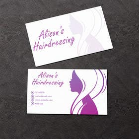 #20 untuk Design some Business Cards for a Small Hairdressing Business oleh rzr9