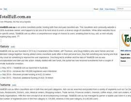 #3 cho Content Writing for www.totalb2b.com.au bởi buff4u2000