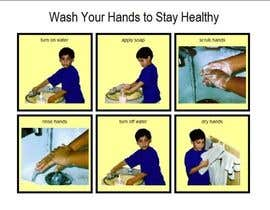 #7 para 5 drawings for a strip depicting the washing of hands for children por yilmo