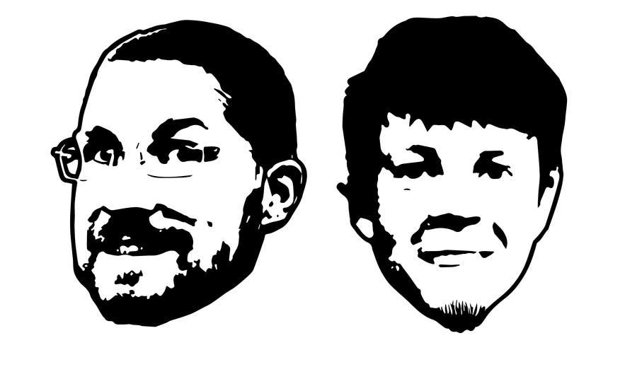 Bài tham dự cuộc thi #27 cho Create a 2D Caricature/Cartoon of 2 Faces