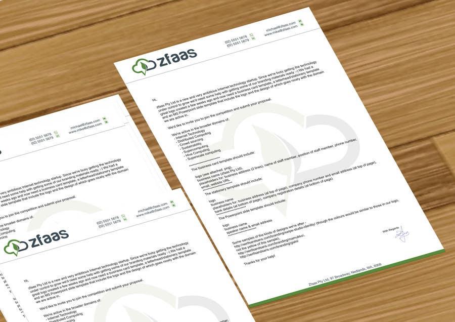 Inscrição nº 4 do Concurso para Design some Business Cards, stationery and a Powerpoint slide template for zfaas Pty Ltd