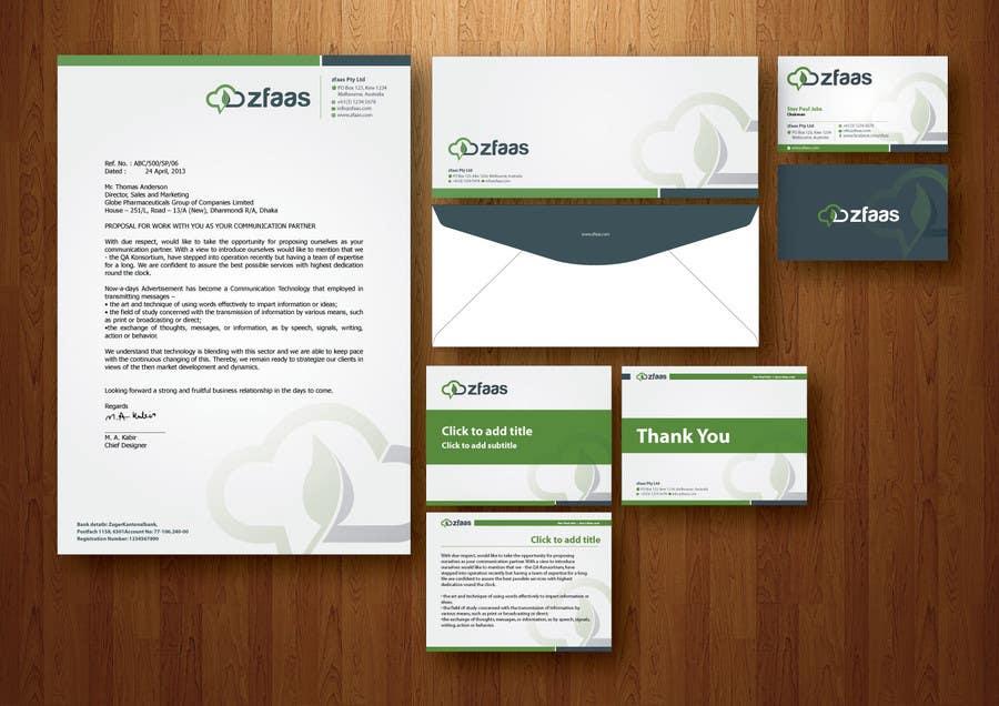 Inscrição nº 23 do Concurso para Design some Business Cards, stationery and a Powerpoint slide template for zfaas Pty Ltd