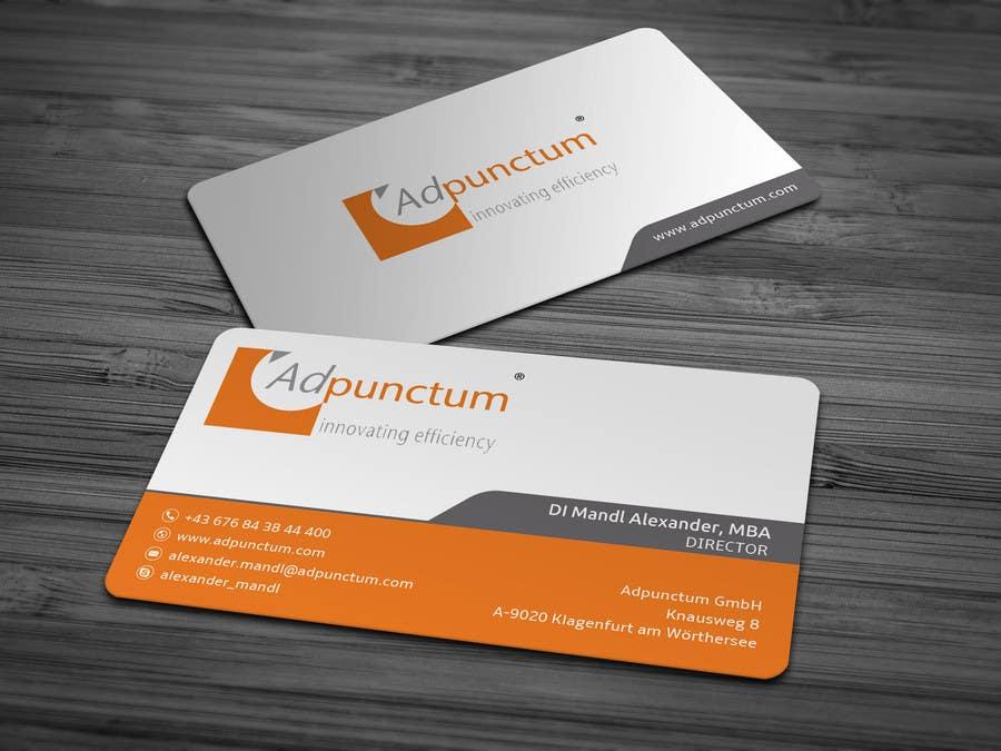 Bài tham dự cuộc thi #42 cho Design some Business Cards for Adpunctum GmbH