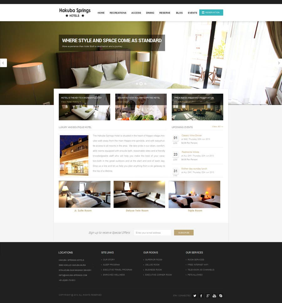 Contest Entry #16 for Hotel website design template