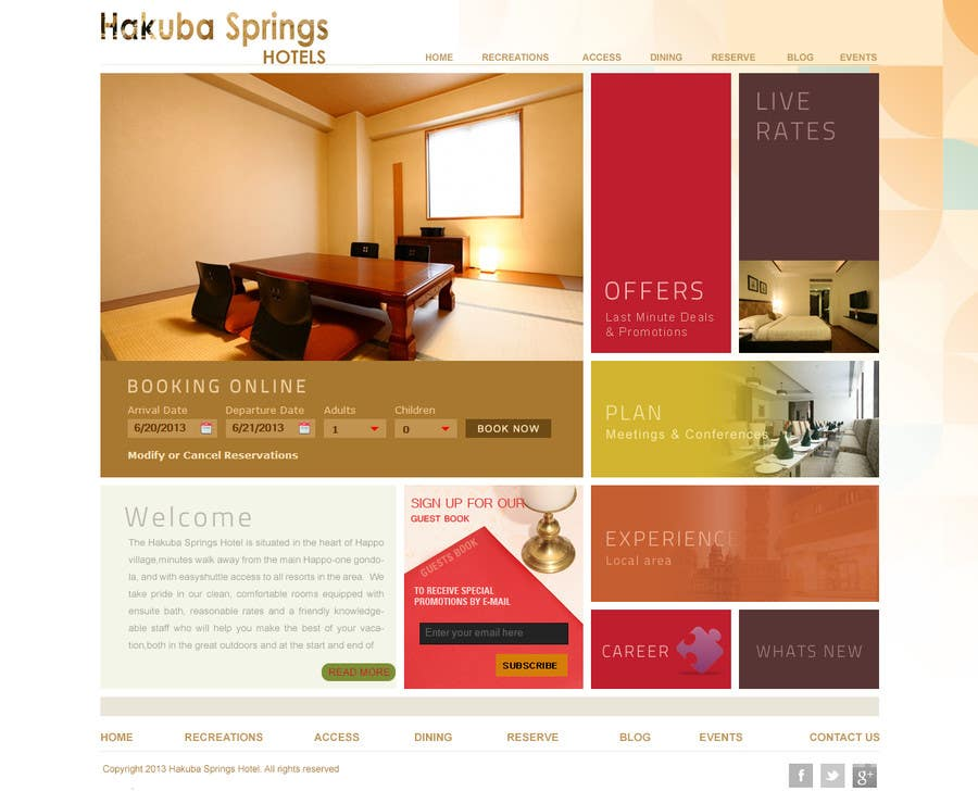 Contest Entry #18 for Hotel website design template