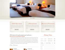 nº 26 pour Hotel website design template par iffal