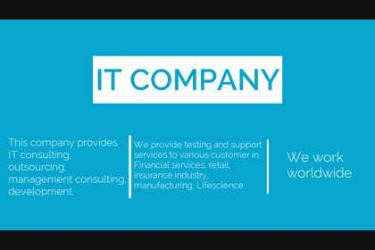 #1 untuk Create a Video for IT based company. Innovative and Thinkers. oleh inlizeth0491
