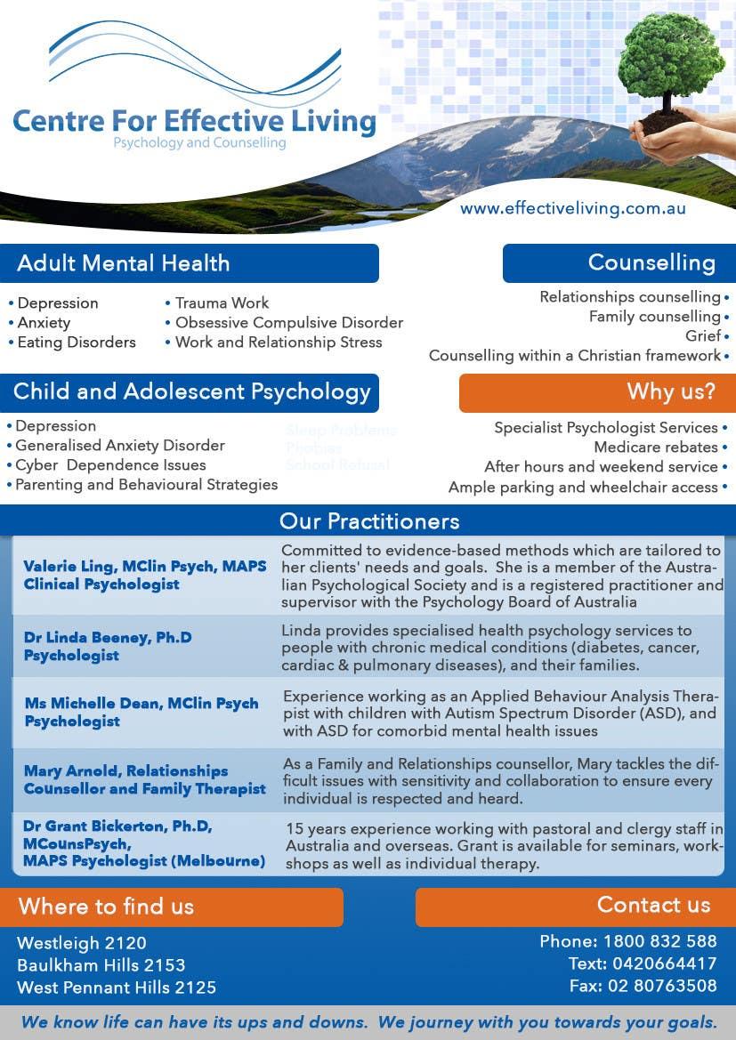 Penyertaan Peraduan #15 untuk Design a Flyer for Psychology service